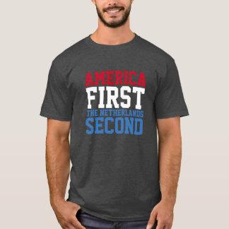 Amerika eerst maar Nederland Tweede T Shirt