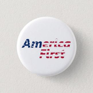 Amerika eerst ronde button 3,2 cm