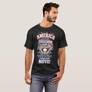 Amerika houden wij van Vrijheid wij Bier drink wij T Shirt