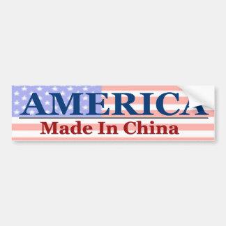 Amerika - in China wordt gemaakt dat Bumpersticker