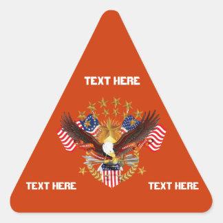 Amerika is niet Vergeten de Driehoek slechts Stickers