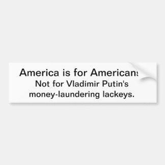Amerika is niet voor de marionettenpresident van bumpersticker
