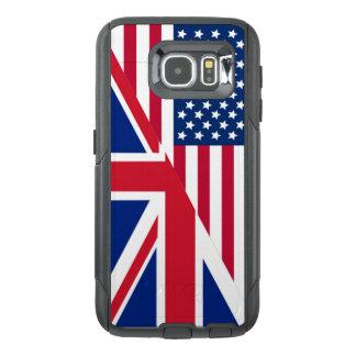 Amerikaan en de Vlag van Union Jack OtterBox Samsung Galaxy S6 Hoesje