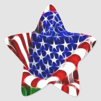 Amerikaan nam Vlag toe Ster Sticker