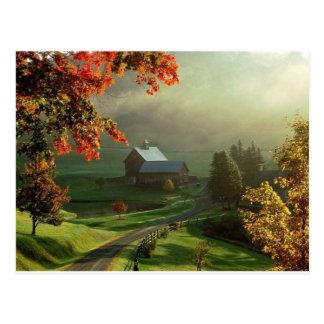 Amerikaans Boerderij Heartland Briefkaart