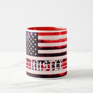 Amerikaans Gedrang Tweekleurige Koffiemok