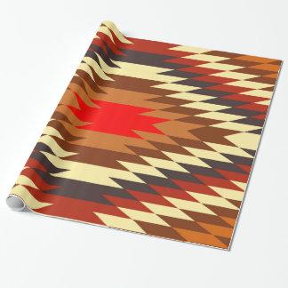Amerikaans inheems traditioneel etnisch inpakpapier