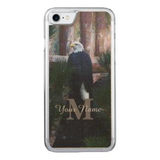 Amerikaans kaal adelaar en monogram Carved iPhone 8/7 hoesje