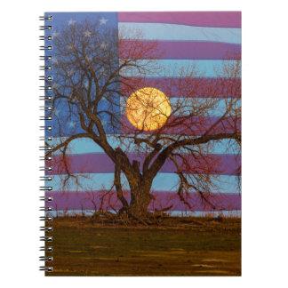 Amerikaans November Supermoon Ringband Notitieboek