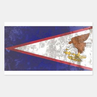 Amerikaans Samoa Rechthoekige Sticker