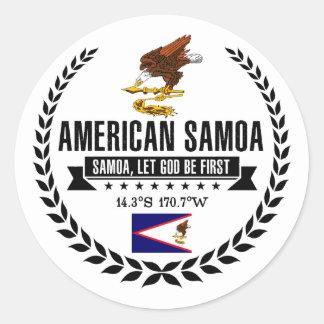 Amerikaans Samoa Ronde Sticker