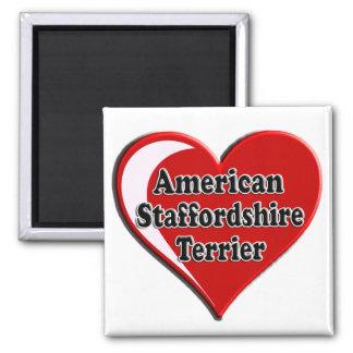 Amerikaans Staffordshire Terrier Hart Magneet