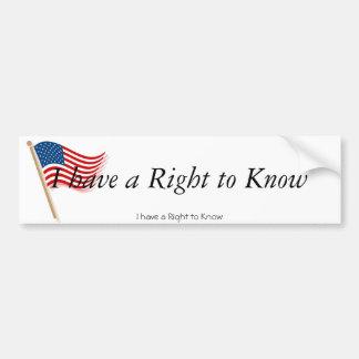 Amerikaans-vlag-klem-kunst-golven-golven, heb ik R Bumpersticker