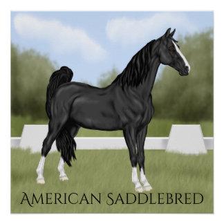 Amerikaans zadel-Gekweekt Paard Perfect Poster
