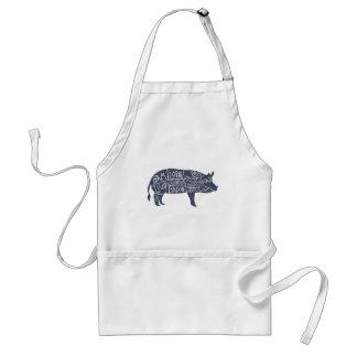 Amerikaanse besnoeiingen van varkensvlees, standaard schort