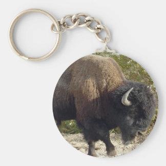 Amerikaanse Buffels Keychain Basic Ronde Button Sleutelhanger