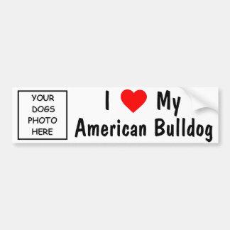 Amerikaanse Buldog Bumpersticker