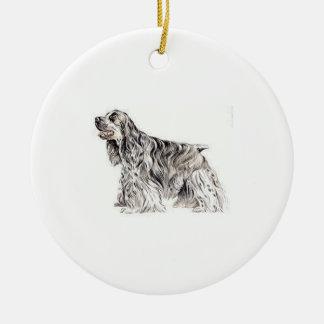 Amerikaanse Cocker-spaniël Rond Keramisch Ornament
