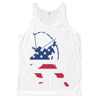 Amerikaanse de schuttervlag van het Boogschieten All-Over-Print Tank Top