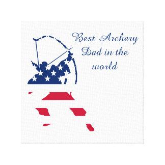 Amerikaanse de schuttervlag van het Boogschieten Canvas Afdruk