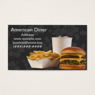 Amerikaanse Diner van de Stijl Visitekaartjes