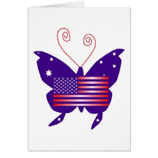 Amerikaanse Diva Vlinder Wenskaart