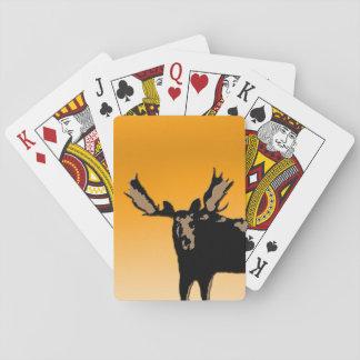 Amerikaanse elanden bij Zonsondergang Speelkaarten