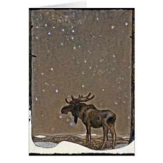 Amerikaanse elanden in Sneeuw Kaart