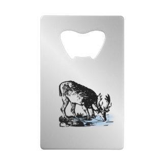 Amerikaanse elanden in Stroom Creditkaart Flessenopener
