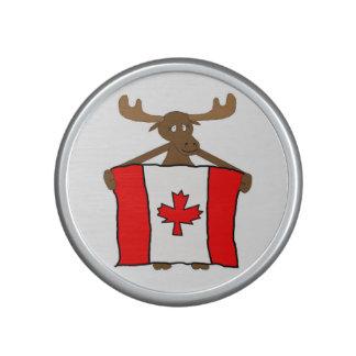 Amerikaanse elanden met Canadese Vlag Bluetooth Speaker