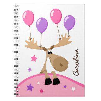 Amerikaanse elanden met gepersonaliseerde het kind notitieboek