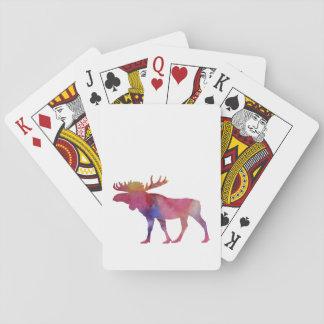 Amerikaanse elanden speelkaarten