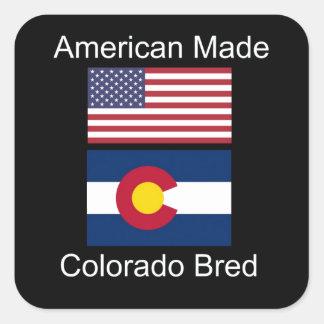"""""""Amerikaanse Geboren. Het Colorado Gekweekte"""" Vierkante Sticker"""