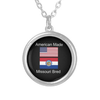 """""""Amerikaanse Geboren. Het Missouri Gekweekte"""" Ketting Rond Hangertje"""