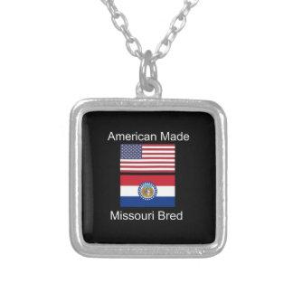 """Amerikaanse Geboren. Het Missouri Gekweekte"" Zilver Vergulden Ketting"