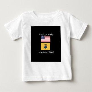"""Amerikaanse Geboren. Het New Jersey Gekweekte"" Baby T Shirts"
