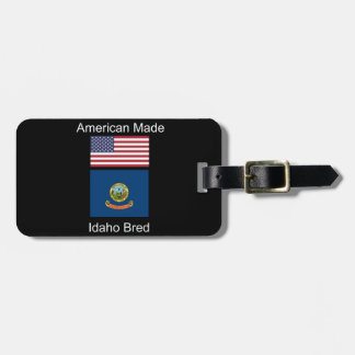"""""""Amerikaanse Geboren. Idaho Gekweekte"""" Vlaggen en Bagagelabel"""