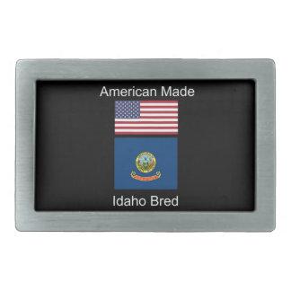 """""""Amerikaanse Geboren. Idaho Gekweekte"""" Vlaggen en Gesp"""