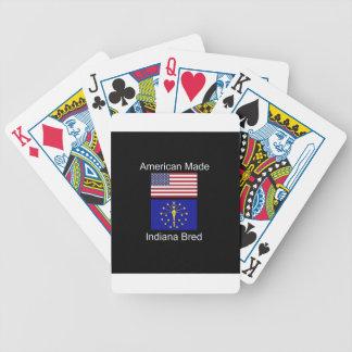 """Amerikaanse Geboren. Indiana Gekweekte"" Vlaggen Poker Kaarten"