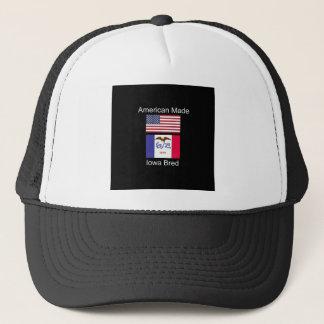 """""""Amerikaanse Geboren. Iowa Gekweekte"""" Vlaggen en Trucker Pet"""