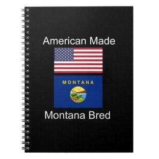 """""""Amerikaanse Geboren. Montana Gekweekte"""" Vlaggen Notitieboek"""