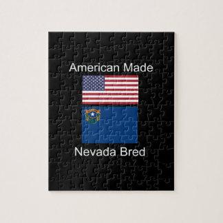 """""""Amerikaanse Geboren. Nevada Gekweekte"""" Vlaggen en Puzzel"""