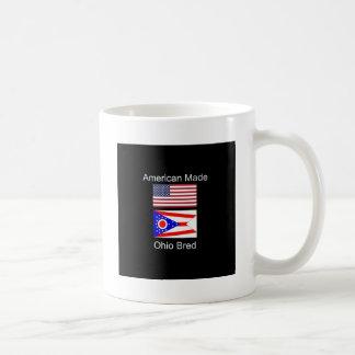 """""""Amerikaanse Geboren. Ohio Gekweekte"""" Vlaggen en Koffiemok"""