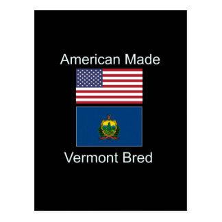 """Amerikaanse Geboren. Vermont Gekweekte"" Vlaggen Briefkaart"