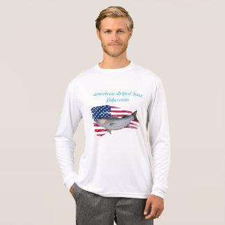 Amerikaanse gestreepte basvisser sweater