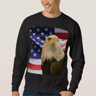 Amerikaanse Kale Eagle en Vlag Trui