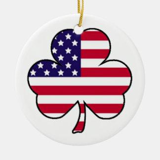 Amerikaanse Klaver Rond Keramisch Ornament