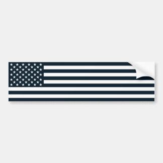 Amerikaanse Patriottische Zwarte & Witte vlag Bumpersticker