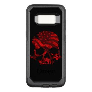 Amerikaanse Rode Schedel OtterBox Commuter Samsung Galaxy S8 Hoesje
