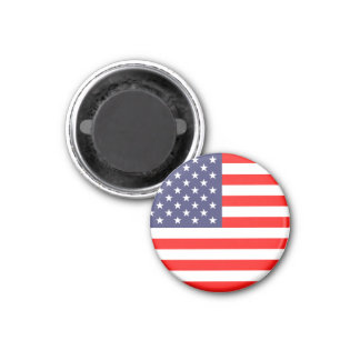 Amerikaanse Ronde vlagmagneten | Ronde Magneet 3,2 Cm